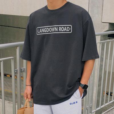 正韓男裝 LANGDOWN ROAD夜光短T / 3色 / LR20522 KOREALINE 搖滾星球
