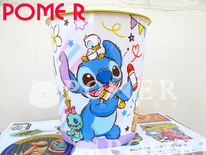☆POMER☆日本迪士尼 絕版正品 星際寶貝 Stitch 史迪奇 醜丫頭 鴨子 冰淇淋 蠟筆塗鴉 收納桶 垃圾桶 禮物