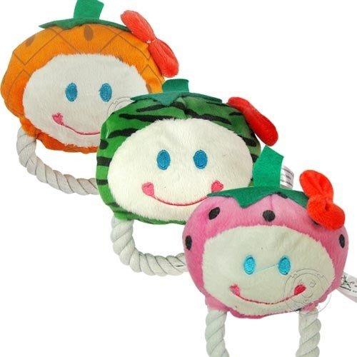 【🐱🐶培菓寵物48H出貨🐰🐹】道格》寵物專用 棉繩水果啾啾玩具 特價88元