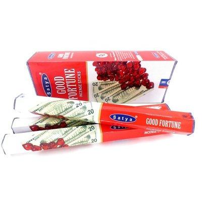 [晴天舖]印度線香Satya Good Fortune 賽巴巴 好運 舒緩 六角香~29元系列暢銷香味任您搭~10管送1