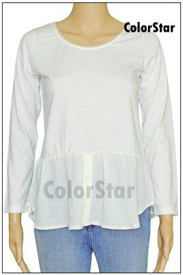 [ColorStar] 日本帶回 NICE CLAUP 彈性 長袖 縫珠珠 棉 內衣上衣,適合與其他衣服穿搭,喜歡別錯過
