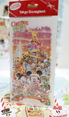【Dona日貨】日本迪士尼海洋限定 聖誕節米老鼠米奇米妮夢幻世界 票卡收藏夾/票根夾(可收藏ibon票根) C58