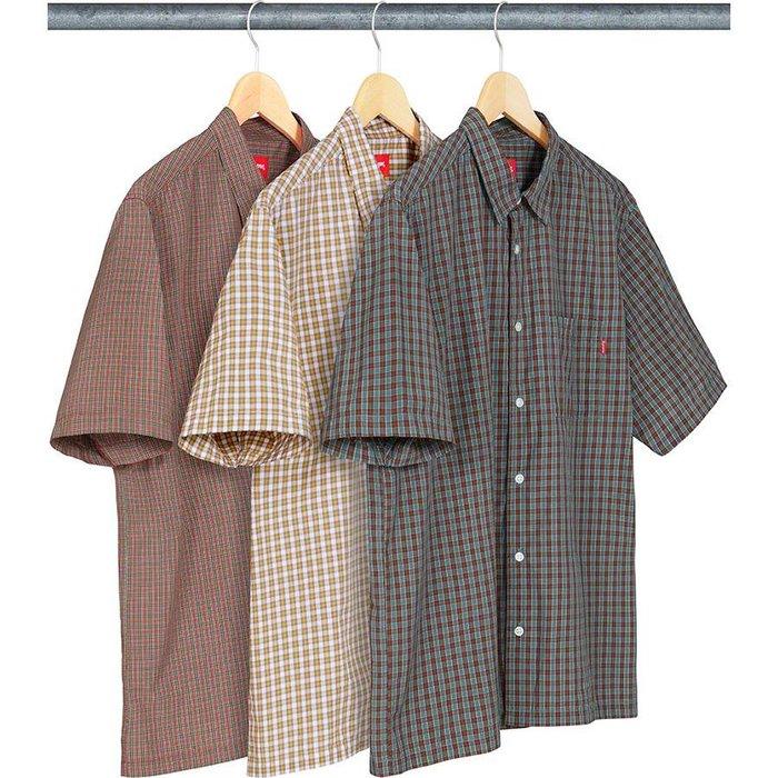 【美國鞋校】預購 SUPREME SS19 Plaid S/S Shirt 襯衫