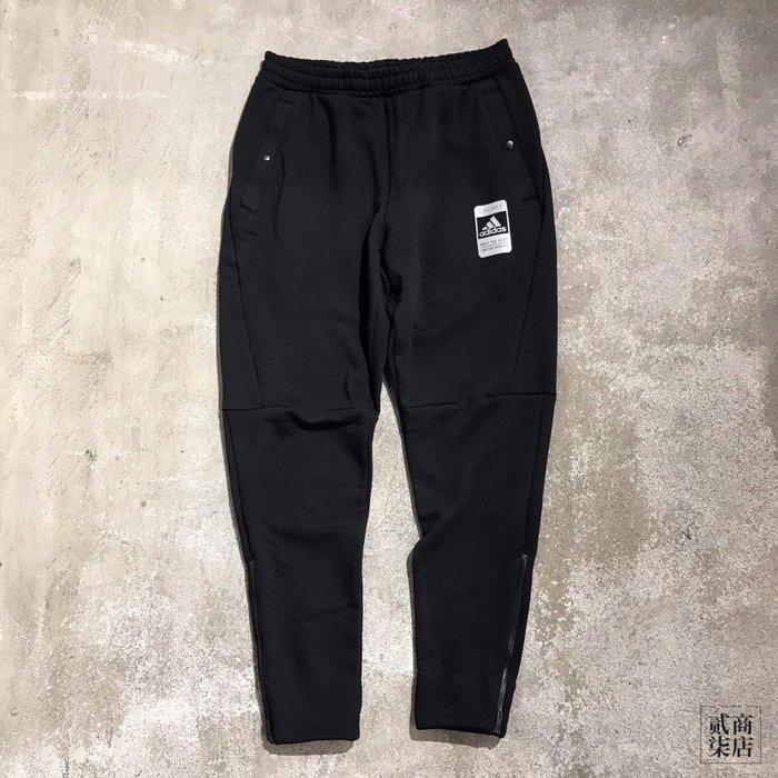 (貳柒商店) adidas U2 Tech Pants 男款 黑色 棉褲 修身 長褲 休閒 運動 FJ0177