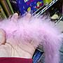 F02- 1細羽毛(無蔥絲素色)