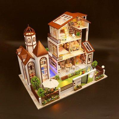 益智拼圖 手工創意 生日禮物3d立體拼圖木質大型房子diy手工模型小屋益智成年人減壓