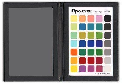 又敗家@Sweden瑞典QpCard校色工具卡203含18%灰卡和35色卡(開年公司貨,免費軟體)18灰卡QP酷必Card數位攝影工具校色板調整色溫板調整色溫片