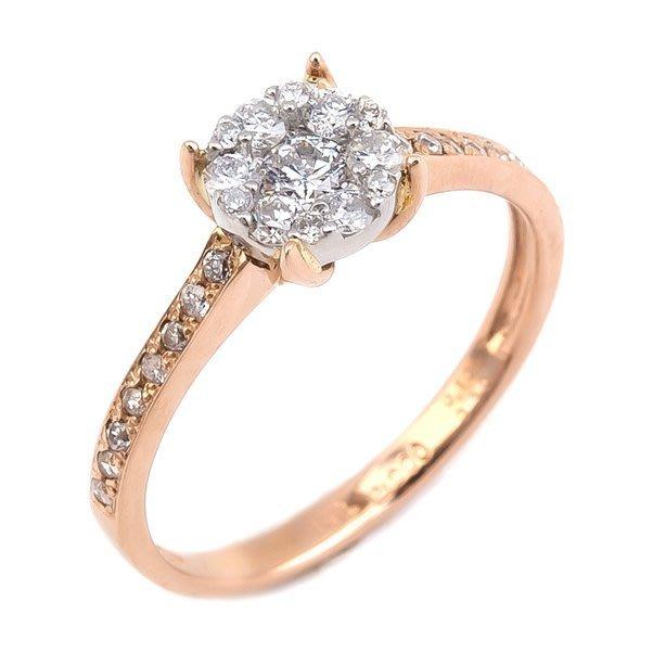 【JHT 金宏總珠寶/GIA鑽石專賣】0.105克拉天然鑽石鑽戒指/材質:PT900/附證(JB38-D10)