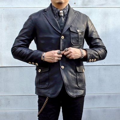 【Silver Monsters】日本Four Speed Leather 須山 日本國寶蝦夷鹿皮 獵裝夾克