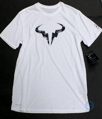 零碼XL特價~NIKE DRY-FIT 男球星款納達爾運動休閒短衫 (白913491100 )