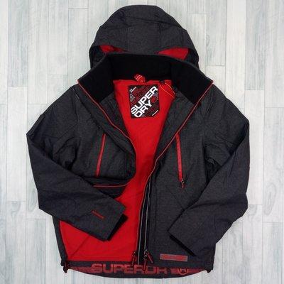 7626 A4 2019全新設計款 極度乾燥 攻擊者 黑灰/暗紅 刷毛 superdry 連帽 外套 男款 雙拉鍊