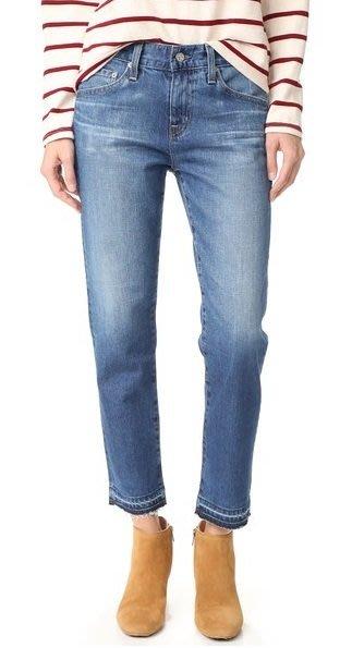 ◎美國代買◎AG ex boyfriend slim 大腿刷白不包邊褲口寛鬆剪裁顯廋男朋友褲款牛仔褲