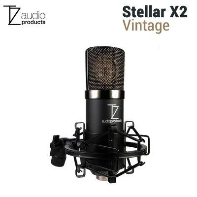 歐密碼 TechZone Stellar X2 Vintage 大振膜電容式麥克風套裝組 心型指向 直播 人聲 樂器