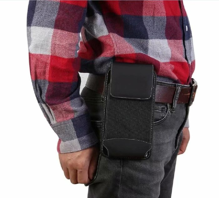 腰包7-11全家正韓國版新款7.2寸華為mate20X手機包MATE20 X豎掛腰包手機袋腰帶腰套穿皮帶男19326