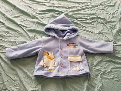 麗嬰房披風外套斗篷 藍色 的加贈連帽保暖外套1件