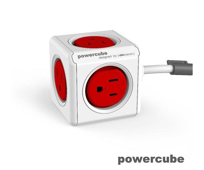 天使熊雜貨小舖~PowerCube  魔術方塊 擴充插座-延長線1.5m  現貨:紅色   全新現貨