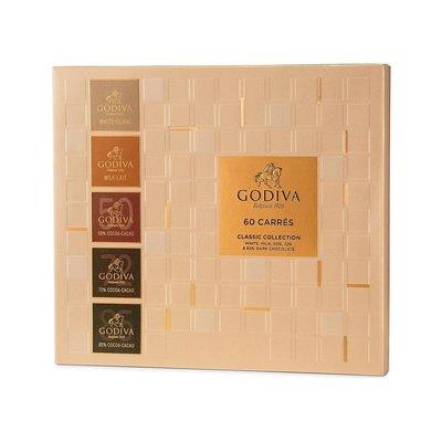 (缺貨中勿下標)請先詢問[要預購] 英國代購 比利時GODIVA 牛奶和黑巧克力禮盒 60入 310g