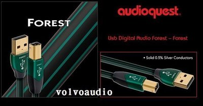 【高雄富豪音響】美國線聖 Audioquest Forest USB A-B 數位線 1.5M