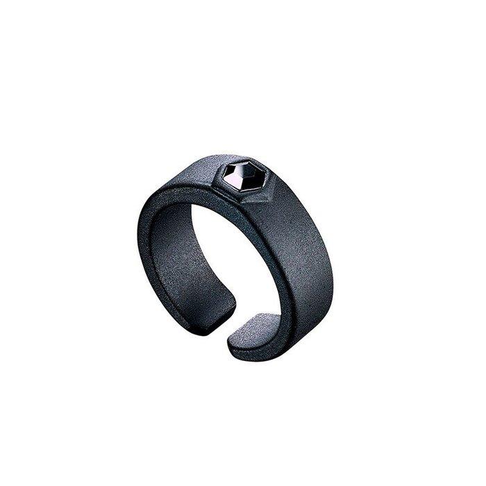 藤原本鋪 SOLO Hexagon Zircon Ring 六角鋯石戒 霧黑黑鑽