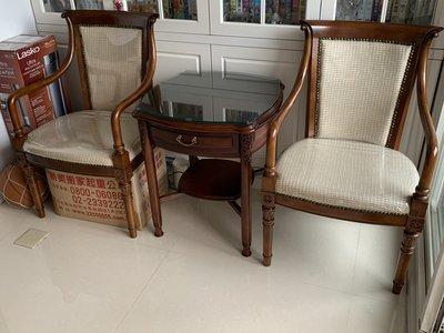 高級木頭茶几桌椅整套[近全新]