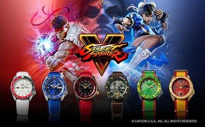 Street Fighter「快打旋風」x SEIKO 5 聯名錶款 龍、肯、春麗、凱爾、布蘭肯、桑吉爾夫 限量開放預購