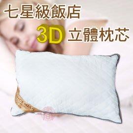 派樂 七星級飯店枕3D立體枕芯(枕頭2顆贈手提袋2個) 枕頭 枕頭芯 高彈性透氣羽絲棉 軟硬適中枕芯 可水洗檢驗合格品質