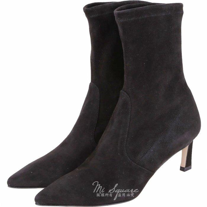 米蘭廣場 Stuart Weitzman RAPTURE 55 麂皮尖頭中筒靴(黑色) 1910039-01 39號