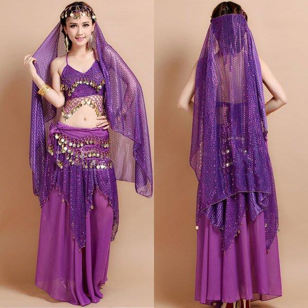 5Cgo【鴿樓】會員有優惠 21599815167 印度風菱形網狀吊幣上衣蛋糕裙肚皮舞套裝印度服飾印度舞演出服套裝印度舞