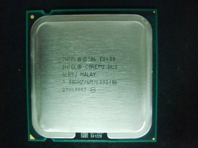 【含稅】Intel Core 2 Duo E8400 3.0G E0 SLB9J 6M 65W 正式庫存散片CPU一年保