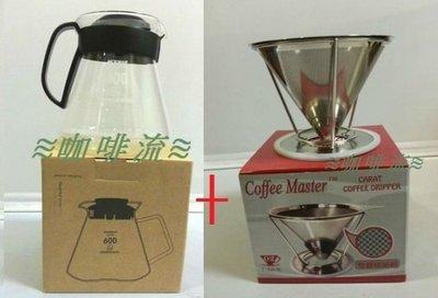 ≋咖啡流≋ 600 耐熱壺 HEATPROOF POT + Coffee Master 咖啡濾網組 2~4人 優惠組合