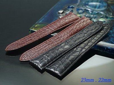【時間探索】Cartier Tank CALIBRE 代用鱷魚皮高級錶帶 ( 25mm.24mm.23mm.22mm )