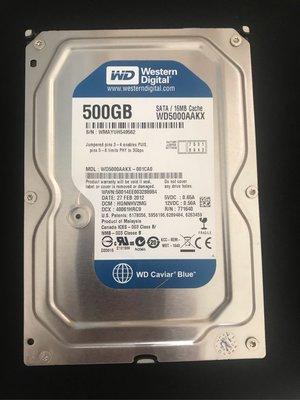 二手良品500G硬碟 無壞軌,中古好的WD 500G SATA 3.5吋硬碟