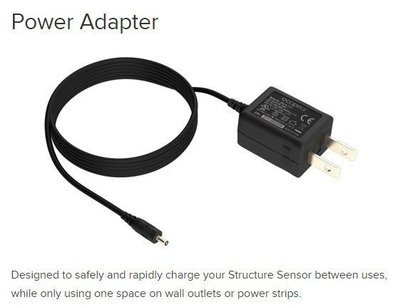 原廠充電器有二款 ※台北快貨※全新 Structure Sensor 專用 Power Adapter