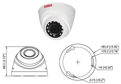 101通訊館~聲寶 SAMPO 球型 紅外線攝影機 1080P 200萬畫素 四合一 AHD  CVI TVI CVBS
