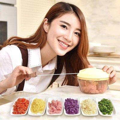 絞肉機 手動手拉切打絞蒜攪拌餃子餡碎菜辣椒料理機絞肉器家用式小型   全館免運