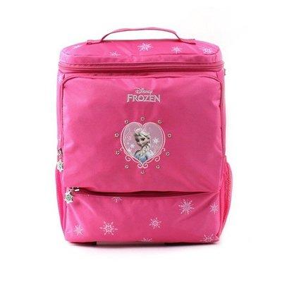 ♀高麗妹♀韓國 FROZEN 冰雪奇緣-艾莎&安娜 雙肩/透氣/可調背帶 兒童書包(25*32*10 cm)預購