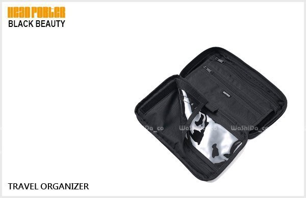 WaShiDa PLUS+【HEAD PORTER BLACK BEAUTY 黑美 TRAVEL ORGANIZER 護照包 】- 預訂 HP-1235