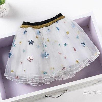 半身裙2019新品夏季女童半身裙紗裙兒童蓬蓬紗網紗裙女寶寶百褶短裙洋氣