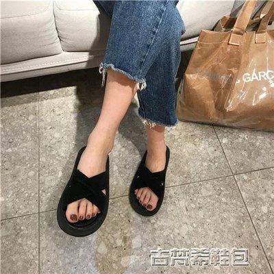 港味復古平底拖鞋韓版鞋子原宿風涼拖女夏外穿