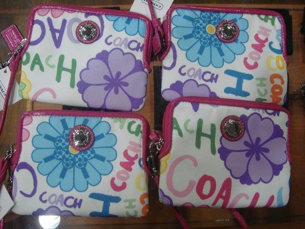 特價【NSS】COACH 43761 彩色 塗鴉 小手提包 卡片