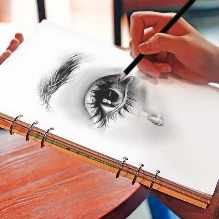 【berry_lin107營業中】加厚A4素描本學生用速寫本可拆卸活頁畫本初學者素描本彩鉛本速寫本美術生兒童畫畫本成人