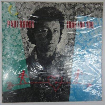合友唱片 PAUL BRADY - TRUE FOR YOU (1983) 黑膠唱片 LP 面交 自取
