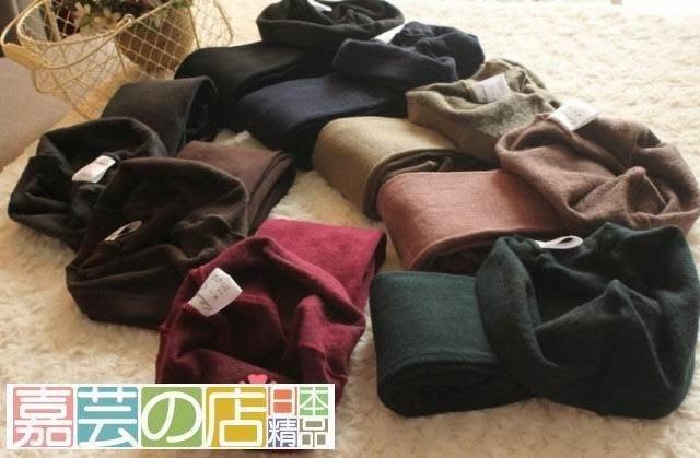嘉芸的店 日本奢華系列 秋冬加厚保暖 內刷毛 磨毛褲襪 加厚 加刷毛 超激瘦日本素色內刷毛褲襪