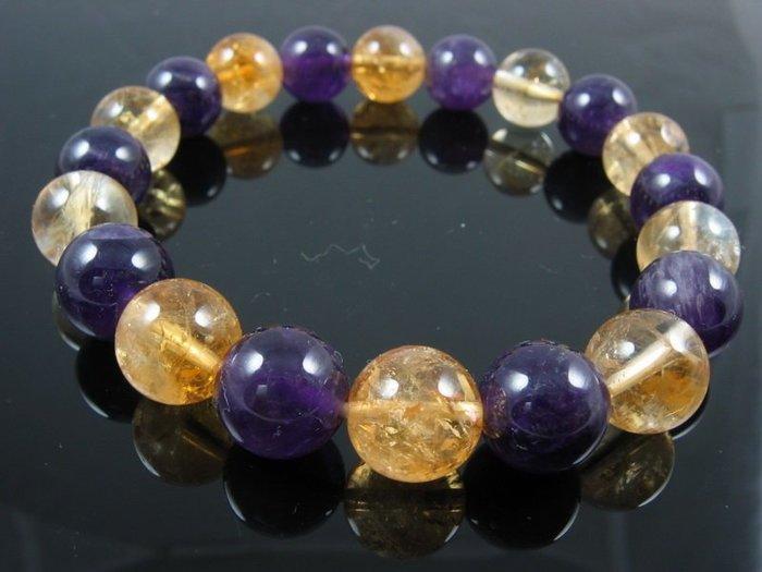 紫黃水晶手鍊-已請老師淨化加持