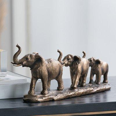 〖洋碼頭〗美國歐式客廳飾品復古創意玄關裝飾個性大象樹脂擺件 shx444