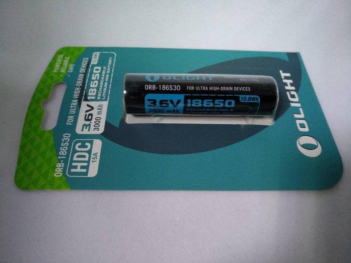 【電筒王】Olight 18650 3000mAh 3.6V 原廠電池 WARRIOR X 專用電池 限隨手電筒購買