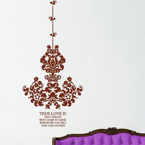 小妮子的家@古董枝形吊燈壁貼/牆貼/玻璃貼/ 磁磚貼/汽車貼/家具貼/冰箱貼