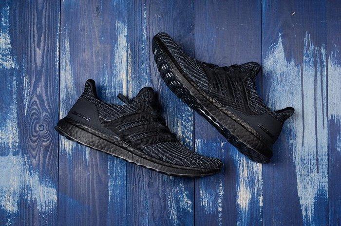 Adidas Ultra Boost4.0 全黑 黑魂 編織 透氣休閒慢跑鞋BB6171