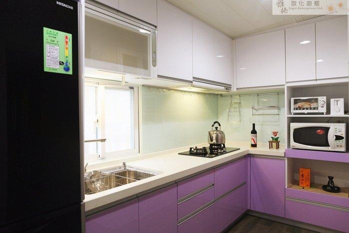 【雅格廚櫃】工廠直營~L型廚櫃、流理台、五面結晶鋼烤、石英石檯面、三用不鏽鋼龍頭