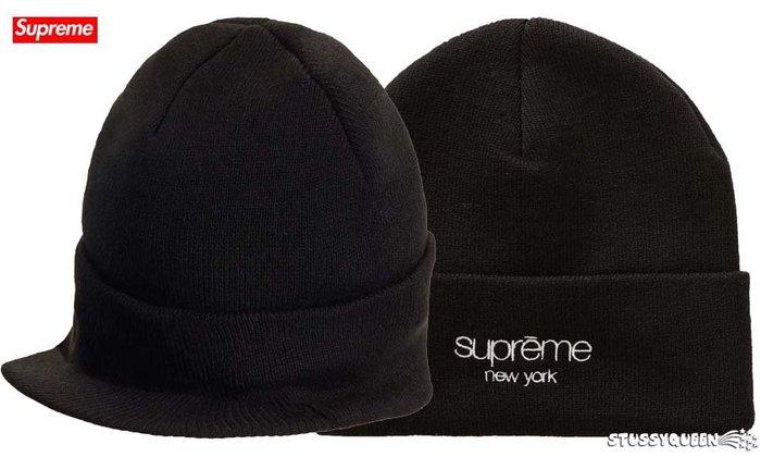 【超搶手】全新正品 2019 最新 Supreme Radar Beanie 帽簷 保暖 反摺 毛帽 黑色